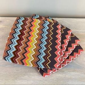 Set of 4 Missoni for Target Melamine Dinner Plates